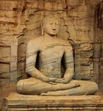 Brown Buddha Statue Royalty Free Stock Photo