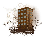 Brown building, illustration Stock Photo