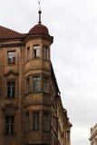 Brown building in Prague Castle Stock Image