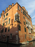 Brown Building at Sunset in Venice. Photo of brown building in venice italy at sunset Stock Images