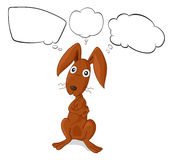 A brown bunny with empty thoughts Stock Photography