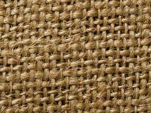 Brown burlap fabric texture background Royalty Free Stock Photos
