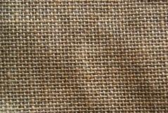 Brown burlap tekstury tło Zdjęcia Stock