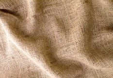Brown burlap texture background Royalty Free Stock Photo