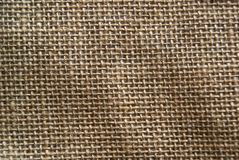Brown Burlap Texture Background. A close up of a brown burlap texture Stock Photos