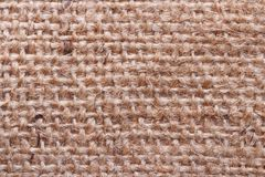 Brown burlap texture close up Royalty Free Stock Images