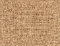 Brown burlap textured background Stock Photo
