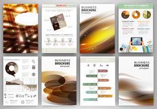 Brown business backgrounds and abstract concept infographics Royalty Free Stock Images