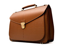 Brown business briefcase isolated Stock Image