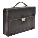 Brown business briefcase Stock Images