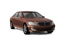 Brown business class car Stock Images
