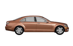 Brown business class car side view Royalty Free Stock Image