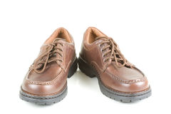 Brown Business Shoes Royalty Free Stock Photography