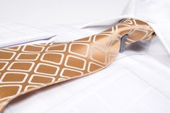 Brown business tie Stock Image