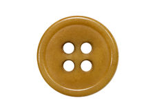 Brown button. Isolated on white Royalty Free Stock Photos