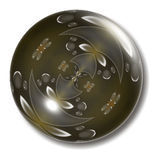 Brown Button Orb Stock Photo