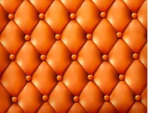 Brown button-tufted leather background. Royalty Free Stock Photo