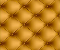 Brown button-tufted leather background. Vector. Stock Photos