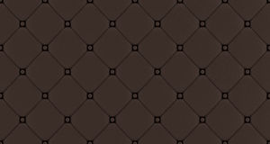 Brown  buttoned leather pattern Royalty Free Stock Photography