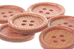 Brown Buttons Macro Isolated Royalty Free Stock Photos