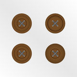 Brown buttons on white background. Eps10 Stock Photo