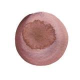 Brown, círculo da aquarela do tronco isolado no branco Fundo redondo abstrato O watercolour do vinho mancha a textura Mão desenha ilustração stock