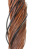 Brown cable and electric network Stock Image