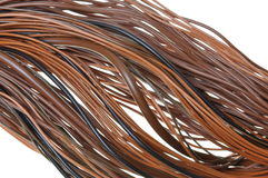 Brown cable network Royalty Free Stock Photos