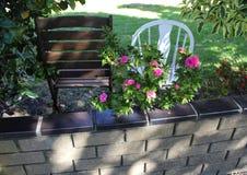 Brown & cadeira branca Imagem de Stock