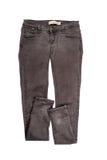 Brown cajgów spodnia odizolowywający Zdjęcie Stock