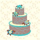 Brown cake Stock Photos