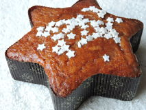 Brown cake with stars Royalty Free Stock Photography