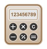 Brown calculator. Royalty Free Stock Photos