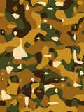 Brown Camouflage Texture Stock Image