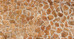 Brown Canarian natural stone wall Stock Images