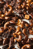 Brown Candied Caramelized Nuts Royalty Free Stock Photos
