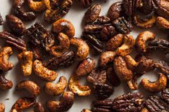 Brown Candied Caramelized Nuts Royalty Free Stock Image