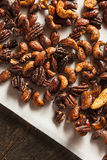 Brown Candied Caramelized Nuts Stock Image