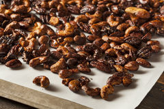 Brown Candied Caramelized Nuts Stock Photos