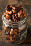 Brown Candied Caramelized Nuts Royalty Free Stock Photography