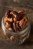 Brown Candied Caramelized Nuts Stock Photo
