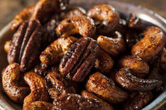 Brown Candied Caramelized Nuts Royalty Free Stock Images