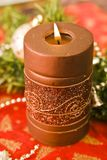 Brown candle Royalty Free Stock Photos