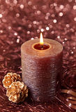 Brown candle Stock Image