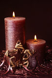 Brown candles Royalty Free Stock Photography