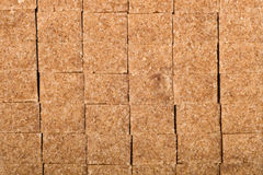 Brown cane shugar cubes royalty free stock photography