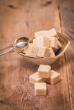 Brown cane sugar in bowl Royalty Free Stock Photo