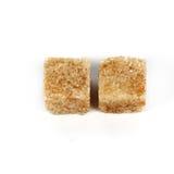 Brown cane sugar cubes Stock Photos