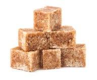 Brown cane sugar cubes Stock Photo