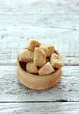 Brown cane sugar cubes Royalty Free Stock Photo